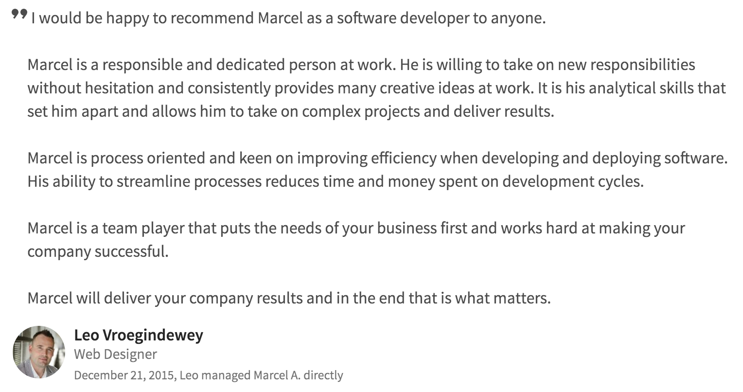 seo web development testimonial 1