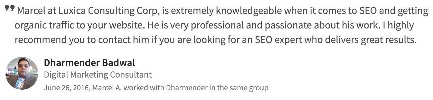 seo web development testimonial 13